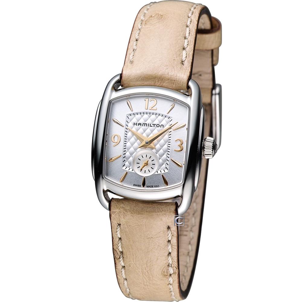 Hamilton Bagley 精粹時尚腕錶-銀/23x29mm