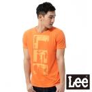 Lee 短袖T恤 圓領橘黃色文字印刷 -男款(橘)