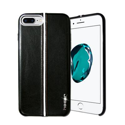 HOCAR iPhone 8 Plus/ 7 Plus 爵士皮革保護手機殼(曜黑...