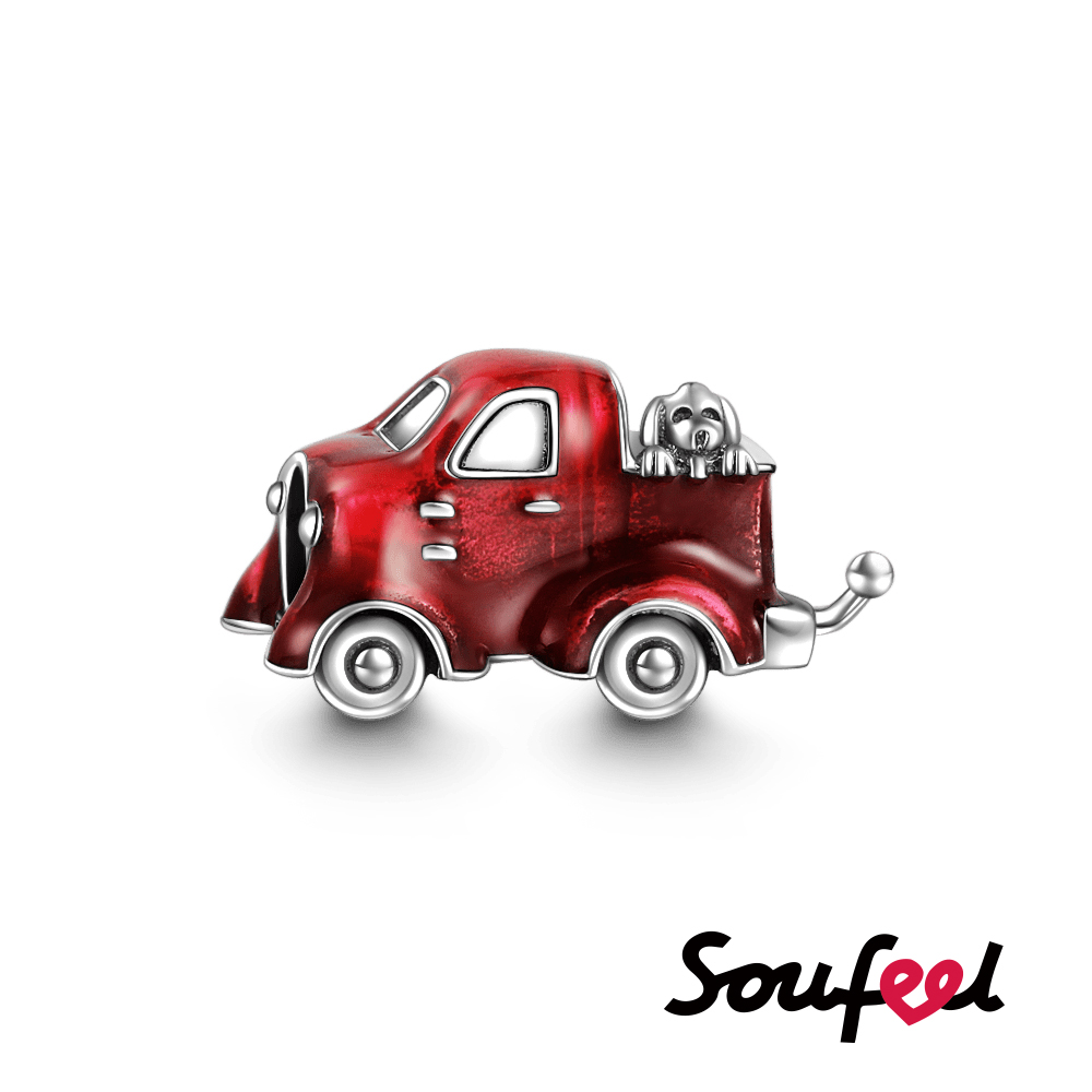 SOUFEEL索菲爾 925純銀珠飾 紅色卡車 串珠