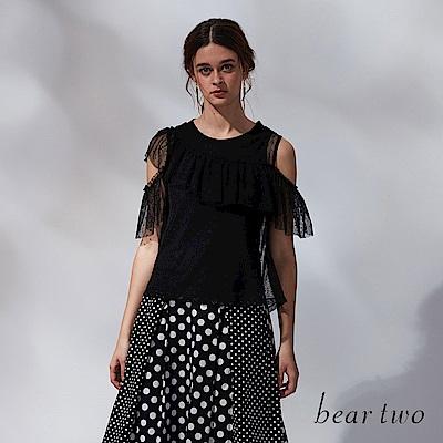 beartwo 露肩蕾絲造型上衣(二色)