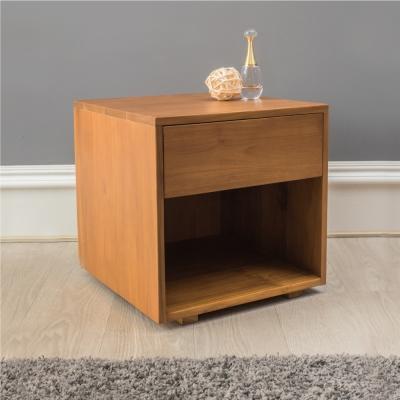 杰諾家居-利古利亞柚木實木床頭櫃-45x45x45cm