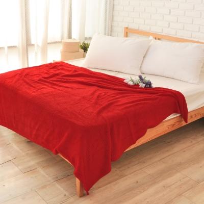 雅曼斯Amance 輕柔舒適暖絨毯 萬用毯 隨意毯-亮眼紅 (快速到貨)