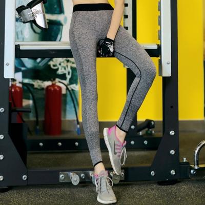 簡約混色配色貼腿運動長褲-共二色-SZ-sport