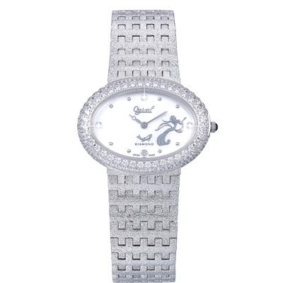 Ogival 愛其華 無窮動藝術系列石英腕錶-白/36mm