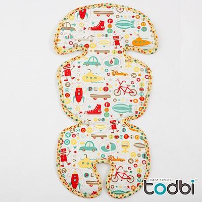 TODBI-3D網格推車/汽座兩用透氣墊-3D淘氣城堡/歡樂ABC