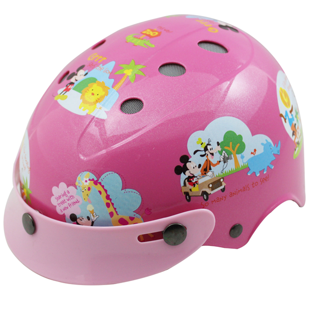 花米奇自行車兒童可調整式安全帽-粉紅色