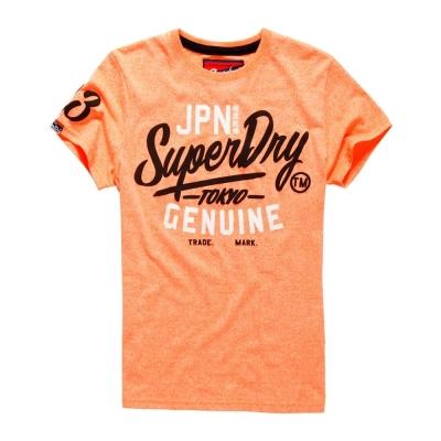 極度乾燥SUPERDRY 短袖 文字T恤 橘色