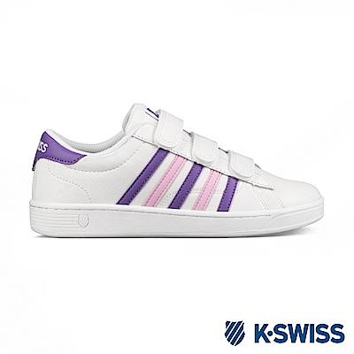 K-swiss Hoke III Strap CMF休閒運動鞋-女-白/紫/粉