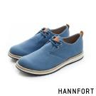 HANNFORT CANYON斜紋布休閒氣墊鞋-男-經典藍