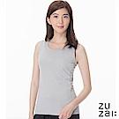 zuzai 自在發熱衣歸真系列女無重力暖搭無袖衣-灰色