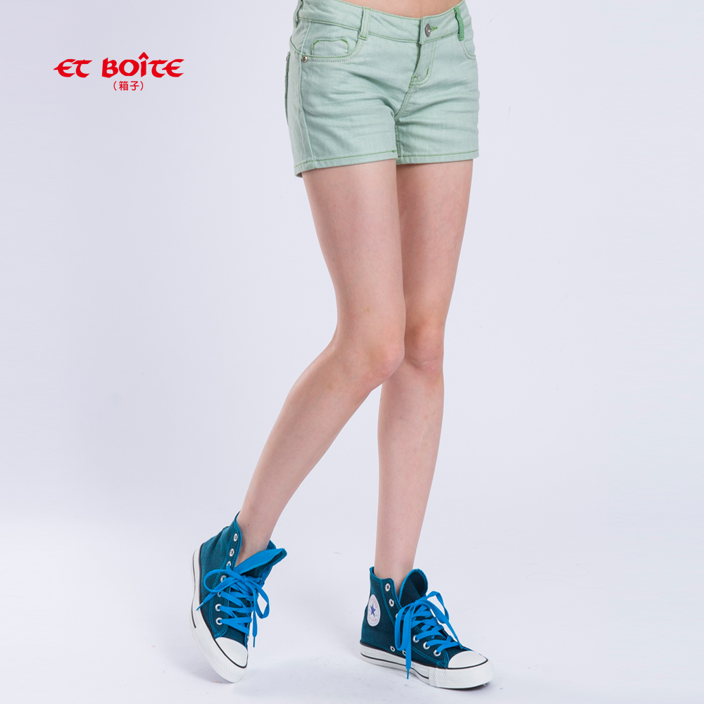 ETBOITE 箱子 BLUE WAY AMOUR雙色短褲-綠