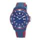AM:PM瑞士精品手錶 CLUB系列 藍X紅錶框 深藍錶盤/深藍紅色錶帶45mm product thumbnail 1
