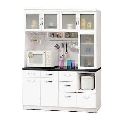 品家居 維多莉5.2尺石面餐櫃組合-157.2x46.3x197cm免組