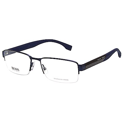 HUGO BOSS 半框 光學眼鏡 (深藍)BOSS0837