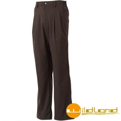 【Wildland 荒野】 W1318 男 彈性抗UV活摺長褲 (93深灰色)