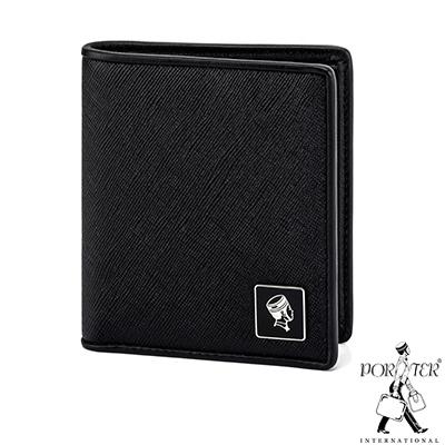 PORTER - 法式時尚BEND俐落直式皮夾 - 黑