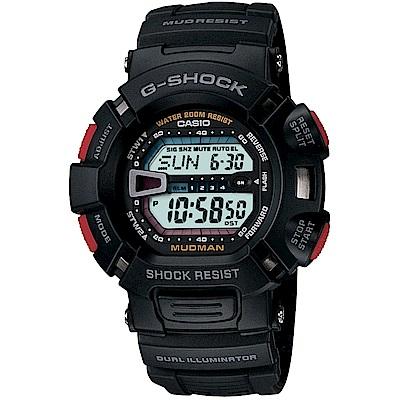 G-SHOCK MUDMAN系列 震撼風暴電子錶(G-9000-1)-黑