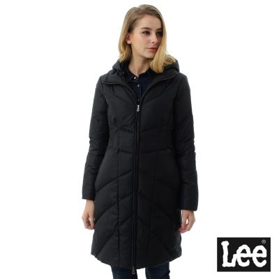 Lee 長版羽絨外套80%絨/RG-女款-黑色
