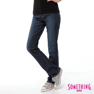 【SOMETHING】簡潔和諧 貼合中直筒保溫褲-女款(拔淺藍)
