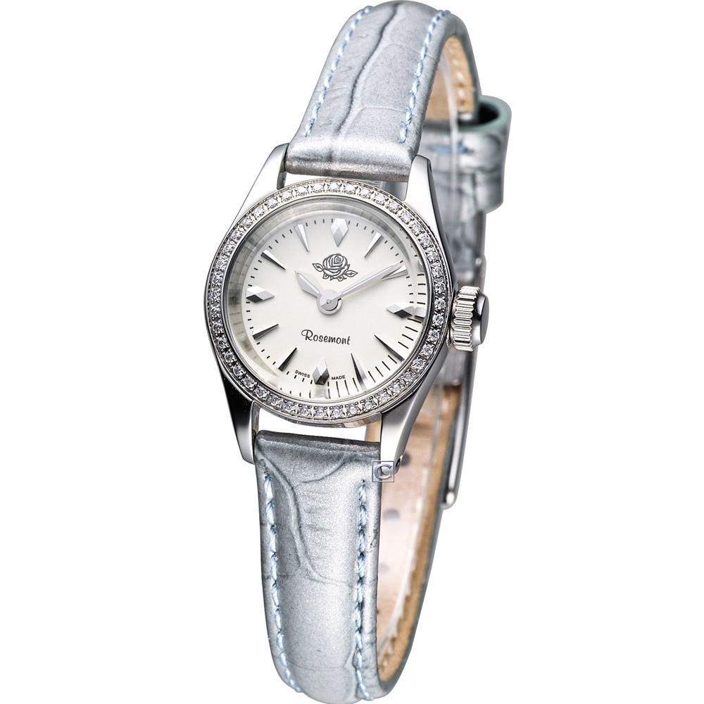 Rosemont 茶香玫瑰系列 III 復古時尚錶-藍色錶帶/22mm