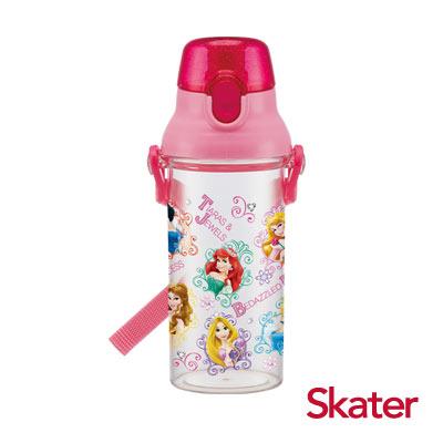 Skater直飲透明水壺 (480ml)迪士尼公主