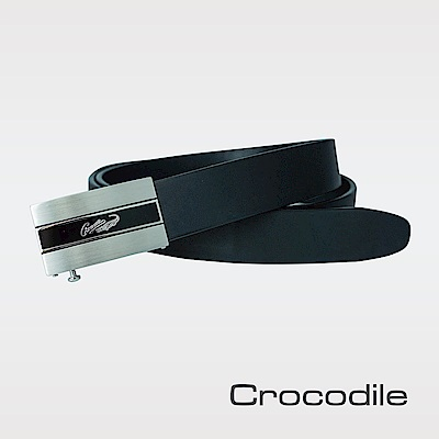 Crocodile 紳士義大利真皮自動穿扣皮帶 0101-20141