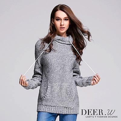 DEER.W 混織連帽口袋毛衣(共兩色)