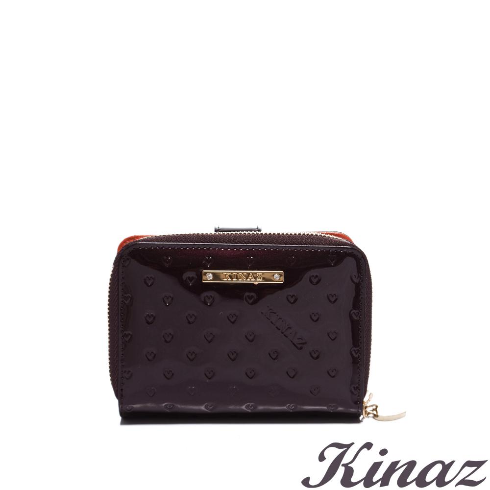 KINAZ - Jewel 璀璨寶石~耀眼渴望真皮兩件夾組-高貴深咖