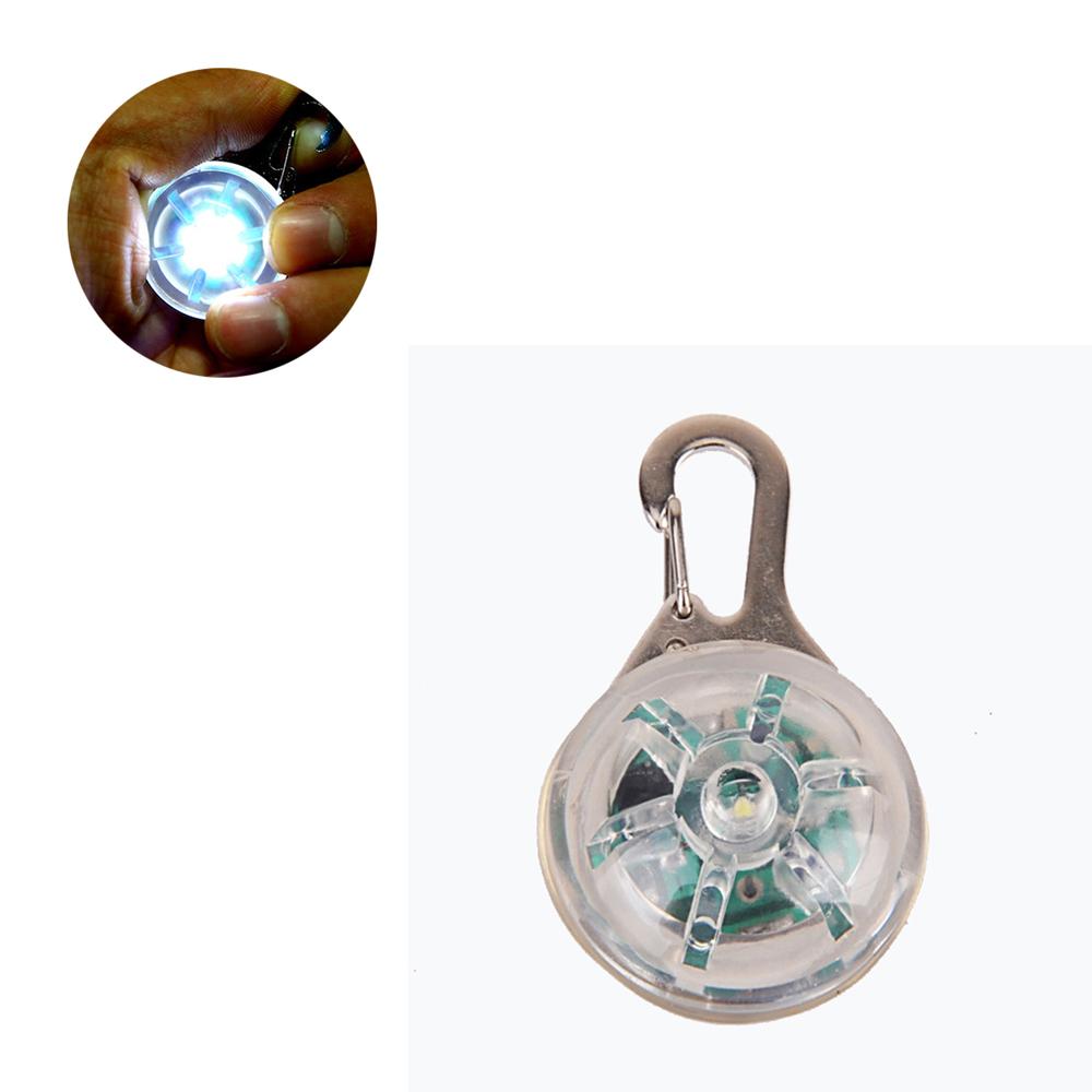 摩達客 LED寵物發光吊墜 (透明七彩光)夜間遛狗貓防走失閃光燈掛墜(二段發光模式)