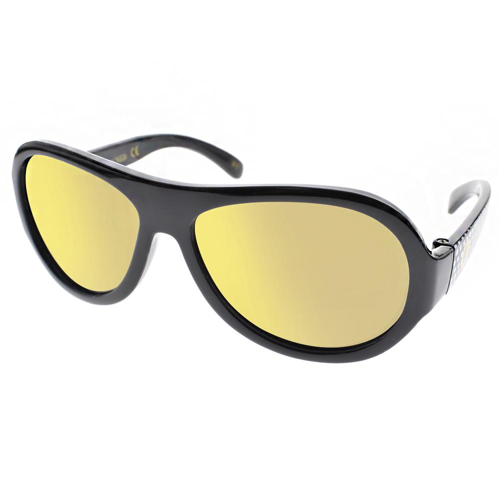 SHADEZ兒童太陽眼鏡 無毒可彎曲/黑點點-黃水銀#SH15SHZ3 C49