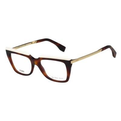 FENDI 方框 光學眼鏡 (琥珀色)FF0088