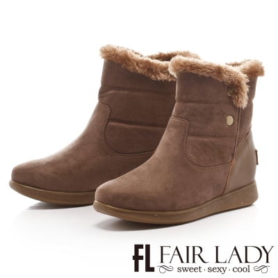 Fair Lady 愛斯基摩釘扣毛雪靴 灰