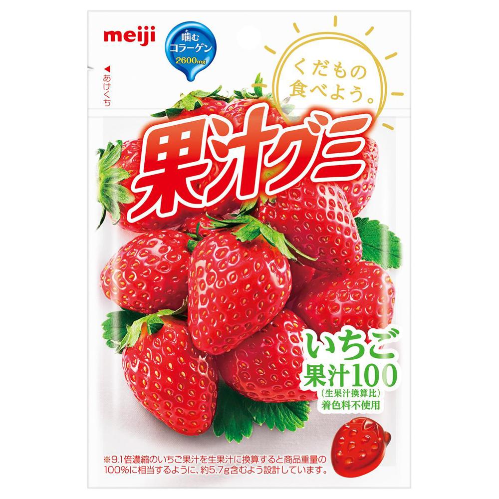 明治 果汁QQ軟糖-草莓(57g)
