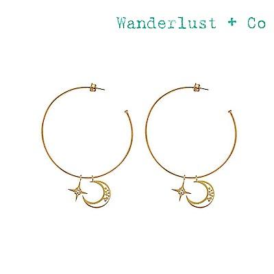 Wanderlust+Co 澳洲時尚品牌 天體月亮造型耳環