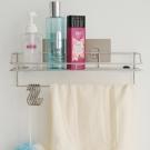 Home Feeling 髮絲紋第二代無痕貼系列-304不鏽鋼浴室毛巾置物架