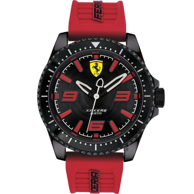 Scuderia Ferrari 法拉利 XX KERS 競速套錶-黑x紅色錶帶/45mm