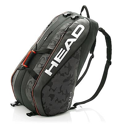 HEAD Tour Team系列 12支裝球拍袋-黑銀 283108