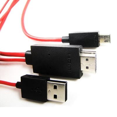 三星 S3 S4 NOTE2 NOTE3 NOTE8.0 MHL To HDMI 視訊線