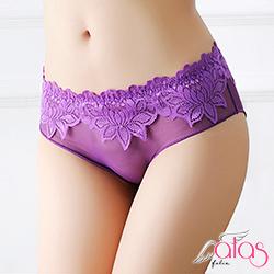 三角內褲 朦朧薄紗透明性感內褲 (紫色) alas