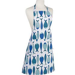 NOW 平口單袋圍裙(藍魚)
