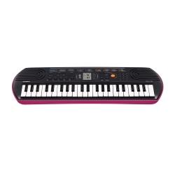 CASIO卡西歐 44鍵迷你電子琴兒童.幼兒適用SA-78(粉紅色含變壓器)