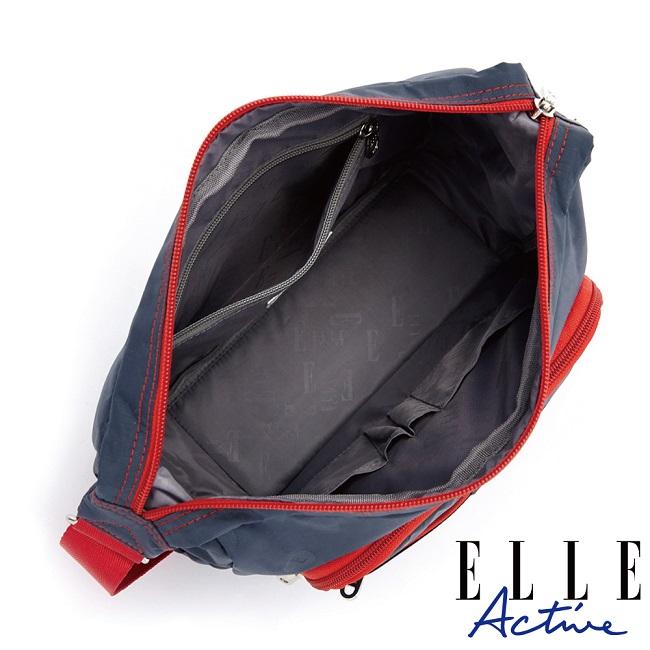 ELLE Active 經典復刻系列-側背包/斜背包-大-藍色