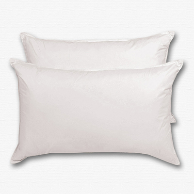 原色布屋 純淨天然羽絨枕 2入 純白