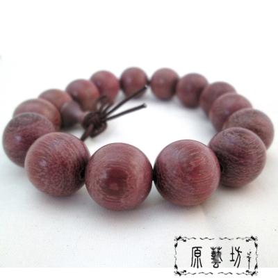 原藝坊  天然浪漫玫瑰 紫檀木 佛珠手鍊(直徑15mm)