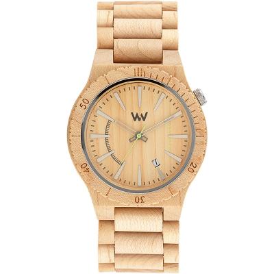 WEWOOD 義大利日期視窗木頭錶 ASSUNT BEIGE-楓木/46mm