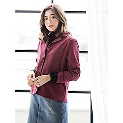 純色磨毛手感襯衫/外套-OB嚴選