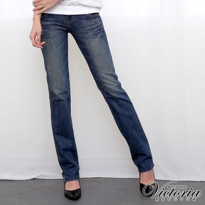 Victoria Victoria基本直筒褲-女-中藍