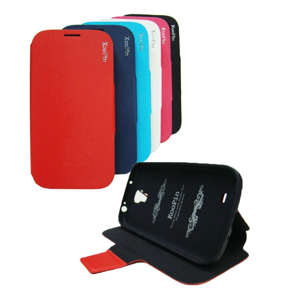 KooPin Samsung S4 / i9500 貂紋後扣側翻皮套