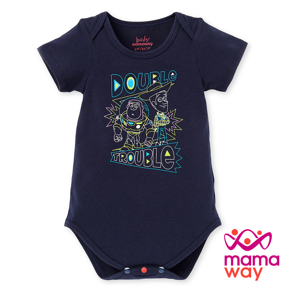 短袖包屁衣baby迪士尼玩具總動員包屁衣Mamaway